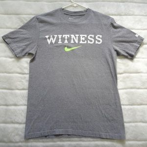 Nike Witness Standard Fit Graphic Tee Medium Gray